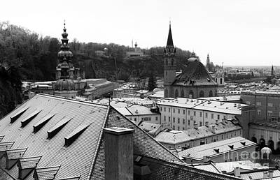 Over The Roof In Salzburg Art Print by John Rizzuto