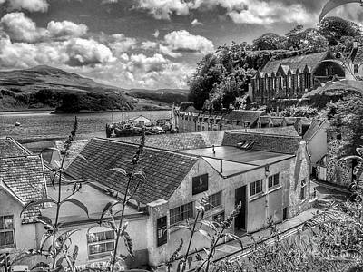 Photograph - Over The Rooftops At Portree In Greyscale 2 by Joan-Violet Stretch