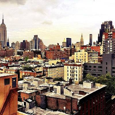 City Scenes Photograph - Over The Rooftops Of New York City by Vivienne Gucwa