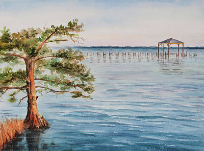 Carolina Duck Painting - Over The Sound by Valentina Copeland