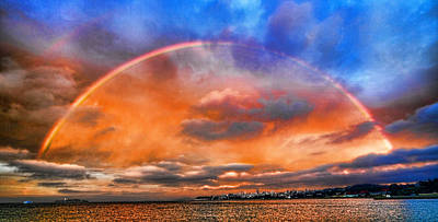 Art Print featuring the photograph Over The Top Rainbow by Steve Siri