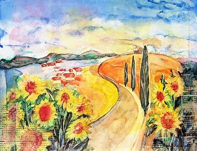Painting - Over The Tuscan Hills by Regina Ammerman