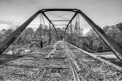 Photograph - Over The Uphapee Black And White by JC Findley