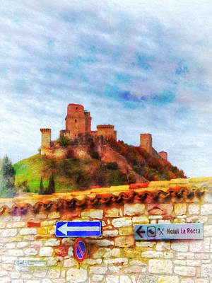 Assisi Photograph - Over The Wall 2 by Darin Williams