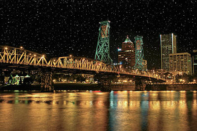 Photograph - Over The Willamette Under The Stars by SC Heffner