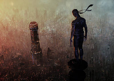 Ninja Digital Art - Over Watch by Jamie Fox