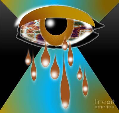 Tears Drawing - Over Whelming Tears by Belinda Threeths