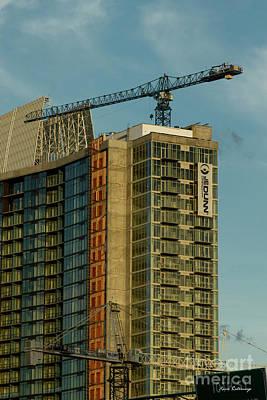 Photograph - Over Your Head Cranes Atlanta Construction Art by Reid Callaway