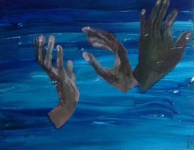 Slave Trade Painting - Overboard by Irena Canty