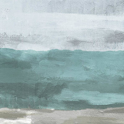 Sea Mixed Media - Overcast- Art By Linda Woods by Linda Woods
