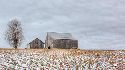 Farm Scene Photograph - Overcast by Bill Wakeley