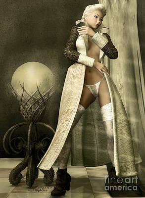 Panty Digital Art - Overdressed by Jutta Maria Pusl