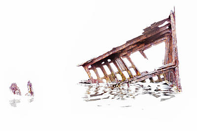 Photograph - Overexposed Peter Iredale by Kay Brewer