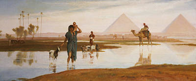 Basin Painting - Overflow Of The Nile by Frederick Goodall