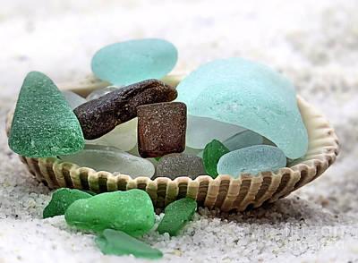 Sea Glass Photograph - Sea Glass Overflowing by Janice Drew