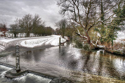 Photograph - Barwick Ford In Winter by Gill Billington