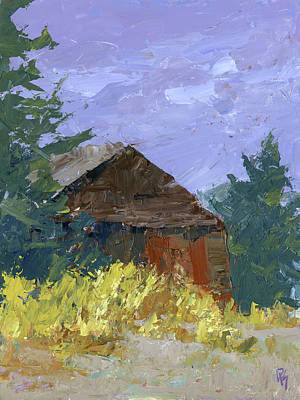 Painting - Overgrown Barn by David King