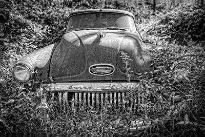 Photograph - Overgrown Buick by Alan Raasch