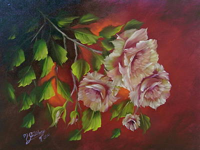 Overhanging Roses Art Print by Micheal Giddens