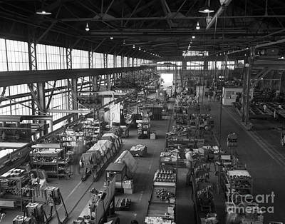 Compressor Photograph - Overhead Of Compressor Assembly Line by H. Armstrong Roberts/ClassicStock