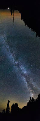 Overhead Pano Of Milky Way At The Pinacles View 2 Art Print by Jakub Sisak