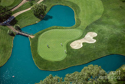 Golf Photograph - Overhead View Of Golfers  by David Zanzinger