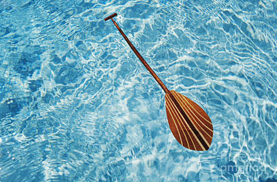 Overhead View Of Paddle Art Print by Joss - Printscapes