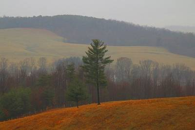 Photograph - Overlook In The Fog 2 by Kathryn Meyer