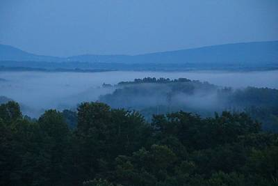 Photograph - Overlook In The Fog by Kathryn Meyer