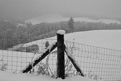Photograph - Overlook In The Snow by Kathryn Meyer