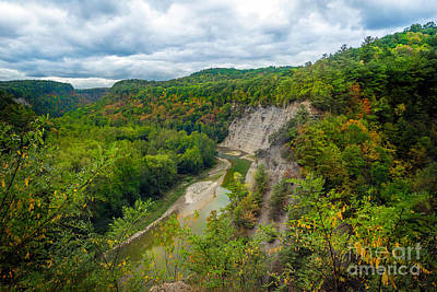 Photograph - Overlook Near Tea Table Letchworth State Park by Karen Jorstad