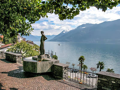 Photograph - Overlook Of Lake Maggiori by Alan Toepfer