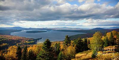 Fall Photograph - Overlook Rangeley Maine by Alana Ranney