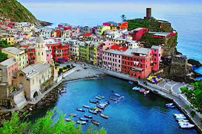 Photograph - Overlook Vernazza by John Galbo