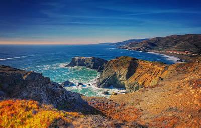 Overlooking Bird Island - Marin Headlands California Art Print