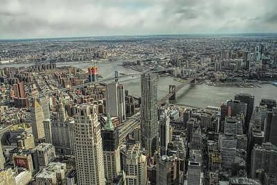 Photograph - Overlooking Manhattan's East River  by Dyle Warren