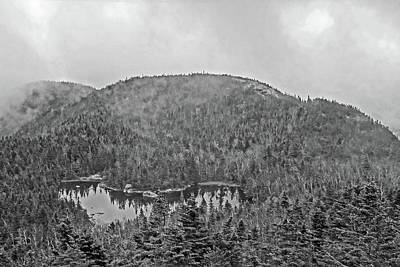 Photograph - Overlooking Marie Louise Lake Adirondacks Black And White by Toby McGuire