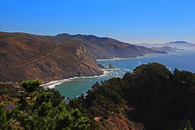 Photograph - Overlooking Marin Headlands by Michiale Schneider