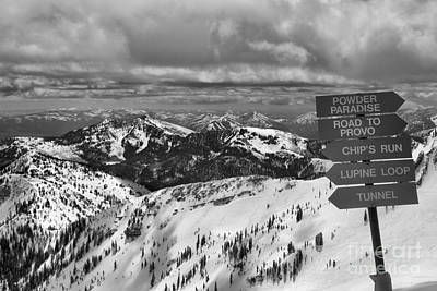 Photograph - Overlooking Mineral Basin In Black And White by Adam Jewell