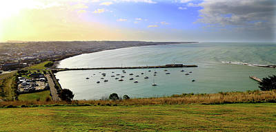 Photograph - overlooking Oamaru and Ocean by Nareeta Martin