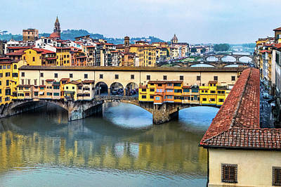 Photograph - Overlooking Ponte Vecchio Bridge by Carolyn Derstine