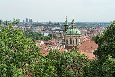 Photograph - Overlooking Prague by Sharon Popek