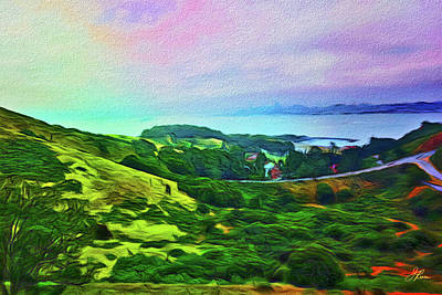 Pop Art Rights Managed Images - Overlooking San Francisco Bay Royalty-Free Image by Joan Reese