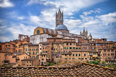 Photograph - Overlooking Siena And The Duomo by Carolyn Derstine