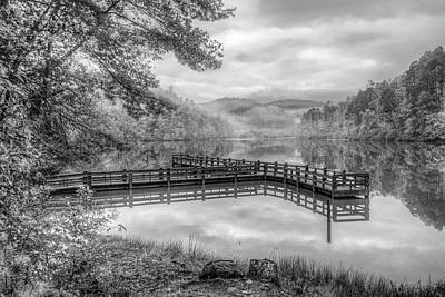 Photograph - Overlooking The Beauty Of The Lake In Black And White by Debra and Dave Vanderlaan