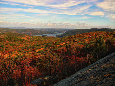 Photograph - Overlooking The Hudson River In Fall by Raymond Salani III