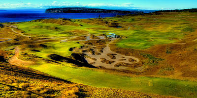 Us Open Photograph - Overlooking The Scenic Chambers Bay Golf Course by David Patterson