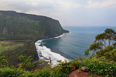 Photograph - Overlooking Waipio Valley by Susan Rissi Tregoning