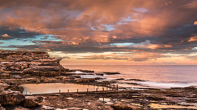 Maroubra Photograph - Overly Pink by Evan Christie