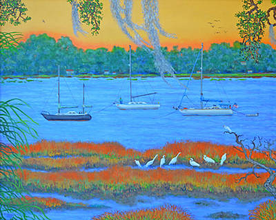 Painting - Overnight In Beaufort by Dwain Ray